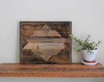Rustic Wood Wall Art - Sm Gray Ganado