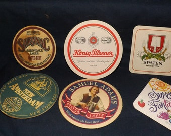 Set of 6 different coasters
