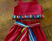 Crop Top & Shorts Set, Girls Outfits, Girls Paperbag Shorts, Girls Crop Top, Girls Summer Outfit, Handmade Kids Cloths, Clothing Sets