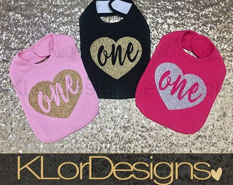 First birthday, birthday bib, 1st birthday, cake smash bib, gold birthday, one  birthday bib