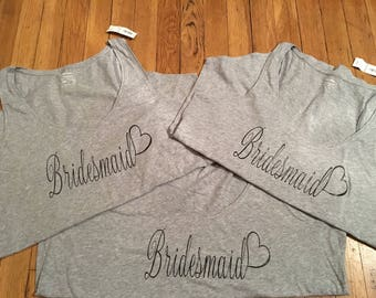 Wedding bridesmaid maid of honor tank tops.