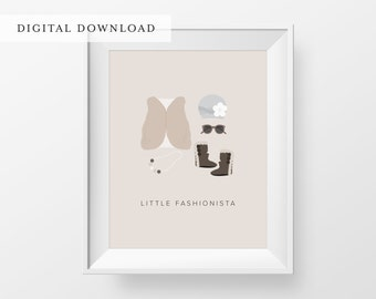 Little Fashionista Nursery Art Print | Nursery Art | Nursery Decor | DIGITAL DOWNLOAD