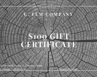C. Elm Company Gift Certificate