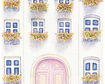 Watercolor French Apartment
