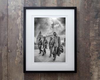 The Beatles - Above Us Only Sky Framed Black & White Print