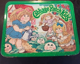 Cabbage Patch Kids metal lunch box 1983