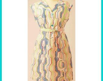 A Colorful Geometric Affair Dress