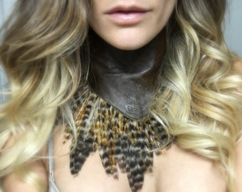 Boho Necklace, Feather Necklace, Festival Top, Burning Man Clothing Women, Music Festival Clothing, Burning Man Clothing, Feather Clothing,