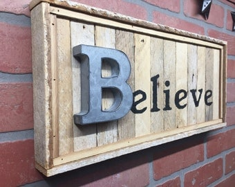 Rustic Believe, Wall Decor