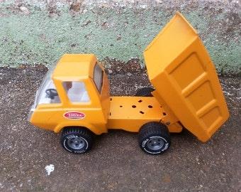 Vintage Tonka Dump Truck Orange Metal Toy Dumptruck