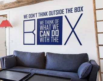 Wall decal, Wall Stickers , Wall Quotes , Office decal , Quote Decal  009