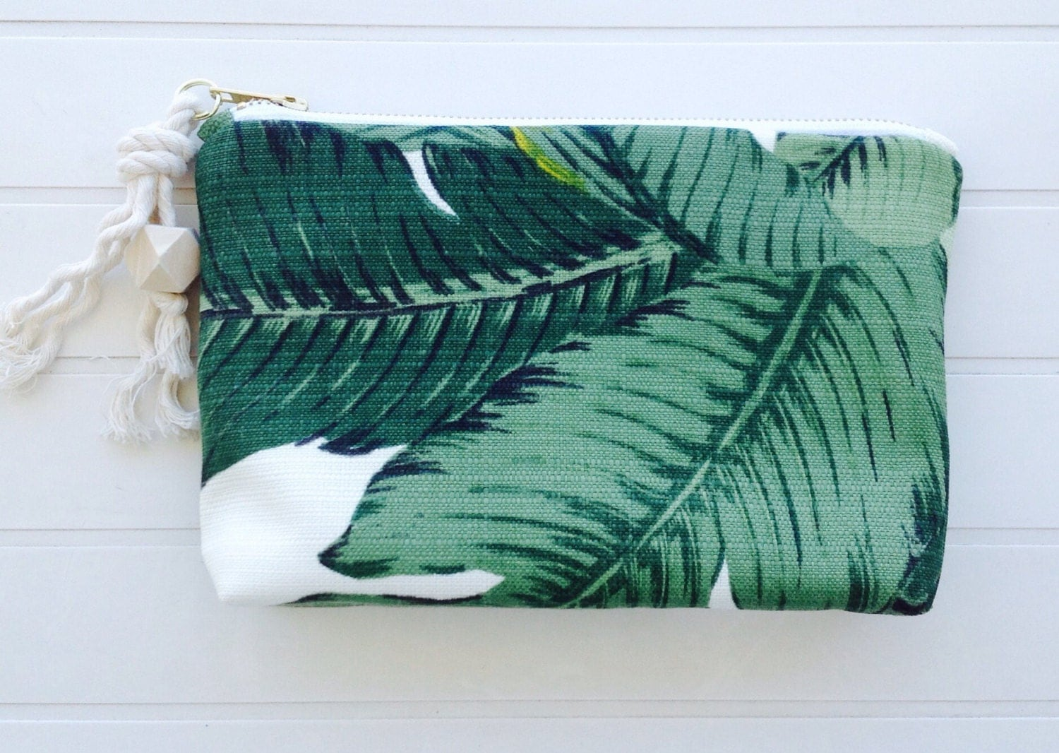 Sway Tommy Bahama Palm Fabric Zip Pouch 24cm X 14cm With 5cm