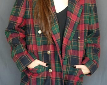 Vintage Tartan Coat