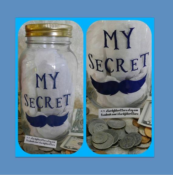 Items similar to secret stash mustache piggy bank for Secret piggy bank