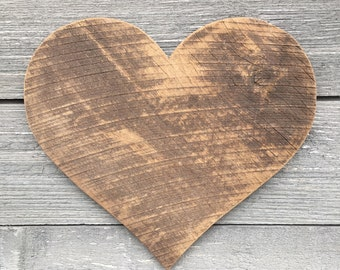 Reclaimed Wood Heart 16""