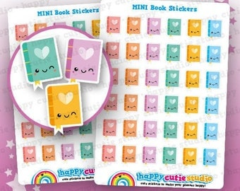 36 Cute Book/Reading Planner Stickers, Filofax, Erin Condren, Happy Planner,  Kawaii, Cute Sticker, UK