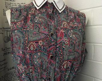 Paisley Print Vintage Dress