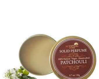 Patchouli Solid Perfume, Organic Patchouli Perfume Bar, Vegan Perfume, Natural Perfume, Gift Idea
