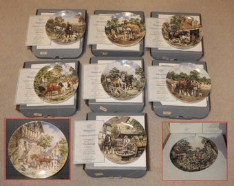 Complete Set of 9 Wedgwood Collector's Plates - Life On The Farm
