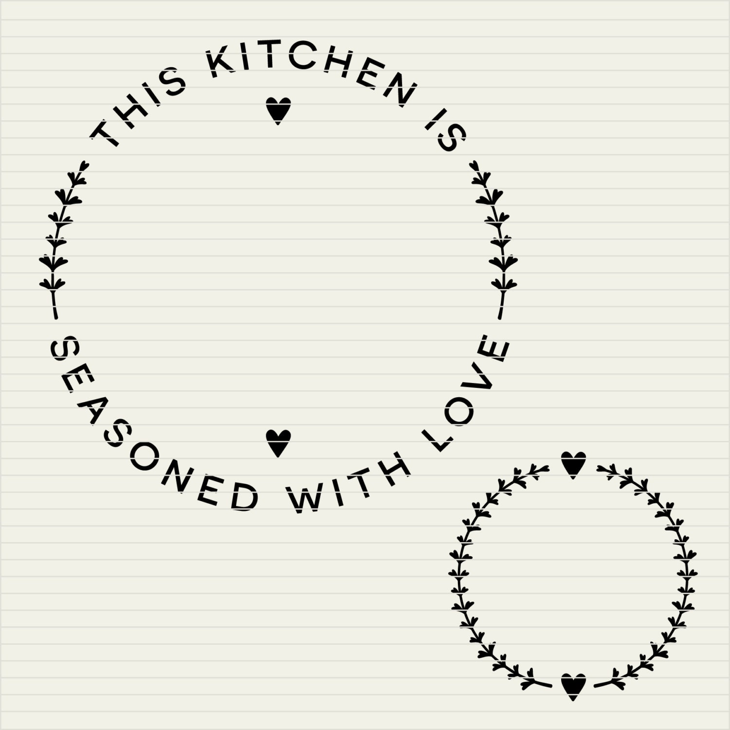 Diy Personalize Svg Kitchen Seasoned With Love Frame