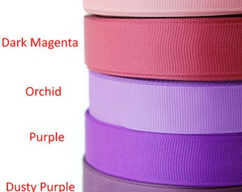 """General Supplies, 3/4"""" Grosgrain ribbon, Ribbon by the yard, Hair bow supplies, Scrapbooking, Sewing, Rims and tapes, Purple palette"""