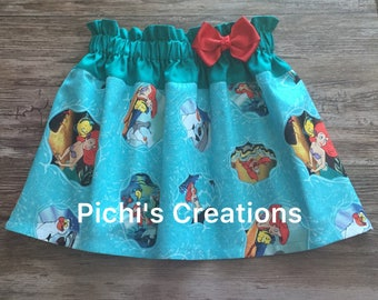 The Little Mermaid Skirt, Ariel Skirt, Ariel The Little Mermaid Skirt