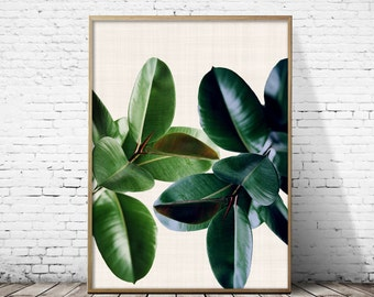 Tropical Plant Print, Large Wall Decor, Botanical Leaf Print, Leaf print, Tropical Leaf, Tropical Plant, Leaf Wall Art, Botanical Leaf Art