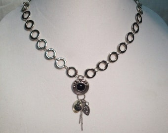 PRICE REDUCED!! Silver & black necklace