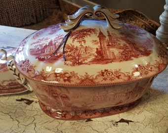 French Country Toile Tureen