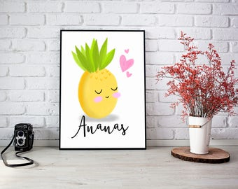 "Illustration ""Mademoiselle Ananas"""