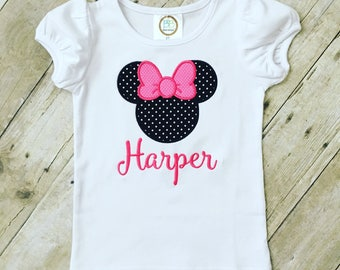 Applique Minnie Mouse Shirt