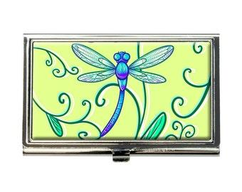 Delicate Dragonfly Business Credit Card Holder Case