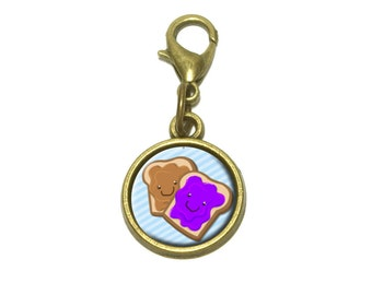 Peanut Butter And Jelly Cute Bracelet Pendant Charm