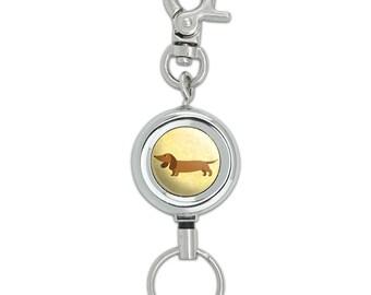 Little Dachshund Lanyard Belt Id Badge Key Retractable Reel Holder