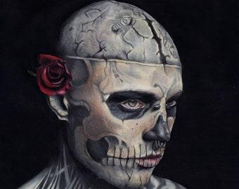Rick Genest (Zombie Boy) Original Print