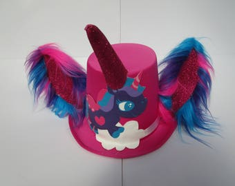 Pink Unicorn Furry Tophat