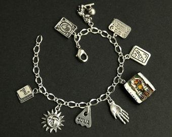 Tarot Bracelet. The Chariot Charm Bracelet. Divination Bracelet. Silver Bracelet. Il Carro Bracelet. Tarot Jewelry. Metaphysical Jewelry.