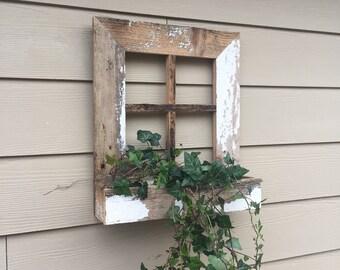 Reclaimed barn wood planter