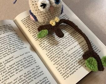 Plush owl bookmark
