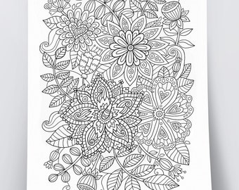 Doodle Art DIY Coloring Poster Printable Pdf