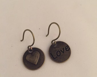 Love and Heart earrings-Valentine's Day