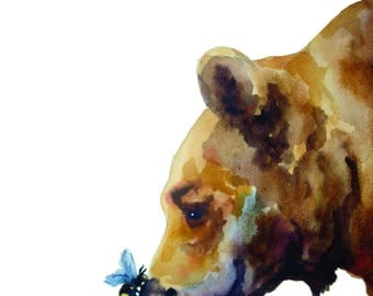 Bee and Bear -limited edition print
