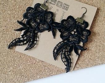 Boho Lace earrings / Statement earring / Women earring / Lace jewelry