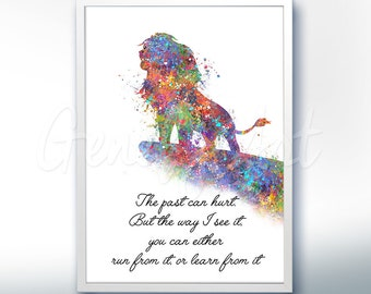 Disney Lion King Simba Quote Watercolor Art Print - Wall Decor - Watercolor Painting - Artwork - Home Decor - Kids Decor - Nursery Decor