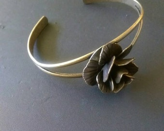 Bronze rose bangle