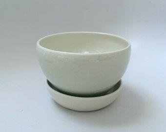 Planter, Flower Pot, in Very Light Celadon (Small)
