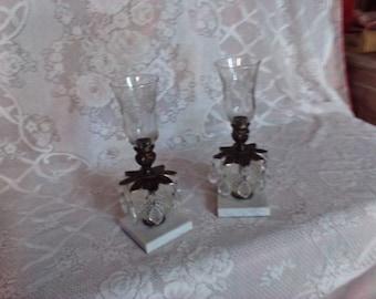 Vintage candle holders pair