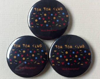 "NEW! - Tom Tom Club ""Wordy Rappinghood"" Pinback Button"