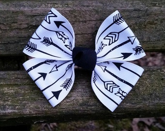 Black&White Arrow Hair Bow (3.5 inch)