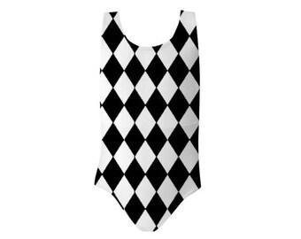 Black and White Harlequin Baby/ Girls Swimsuit from BUGSY SWIMWEAR